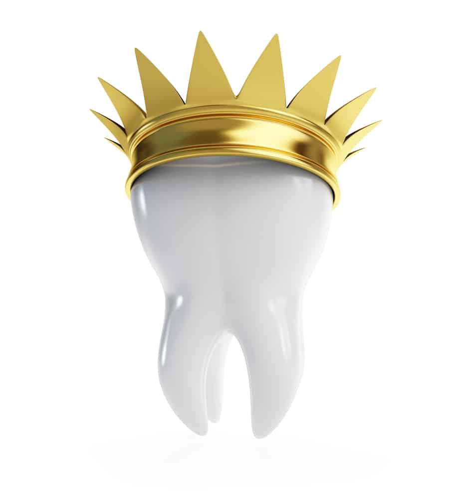 Gold dental crown