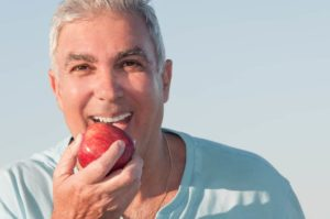 chewing after dental implants